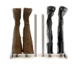 Boot Rack - This is a great way to store boots because they are so hard to keep in shape.