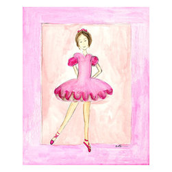 "Oh How Cute Kids by Serena Bowman - Pink Ballerina, Ready To Hang Canvas Kid's Wall Decor, 11 X 14 - ""Dancer in Pink""  This is a darling little picture. Perfect for the little dancer in your life. Nothing is sweeter than a little ballerina!"