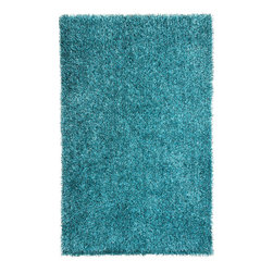 """Jaipur - Jaipur Flux  FL07 RUG101771 Area Rug - Personal expression reaches new heights with Flux, a beautiful range of plush, hand-woven shag rugs of 100 percent polyester. This """"chameleon"""" is ideal for the contemporary design lover who enjoys mixing up his or her personal space often - acting as a rich background to a diverse palette of furnishings and accessories. Highly textured shag construction brings comfort underfoot while a palette of fashion forward solid hues commands attention in any room."""