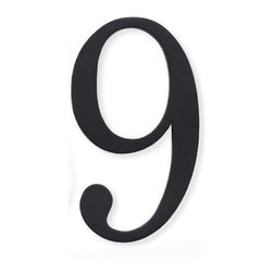Atlas - Traditionalist House Number 8 w 0.4 in. Proje - Manufacturer SKU: TRN9-BL. Made from metal. 6 in. L x 3.1 in. WTraditionalist house numbers can rest flat against your wall, or be raised 0.62 in. for optimal shadow effect with provided extension posts.