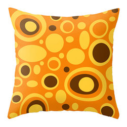 Crash Pad Designs Throw Pillow(pip) - A fun pillow can change an entire room. style your room with our mod pillows. On a sofa , a  chair, or bed it's sure to make you smile. Double sided print. Woven poly poplin w/ a hidden zipper closure & a polyester fill insert. Machine washable. 18x18 Your pillow is made to order, allow 7-10 days for shipping