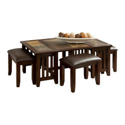 Standard Furniture - Standard Furniture Napa Valley 3-Piece Coffee Table Set - Casual California rustic styling and multi-functional features make Napa Valley the answer for today's preference for relaxed living and versatility.