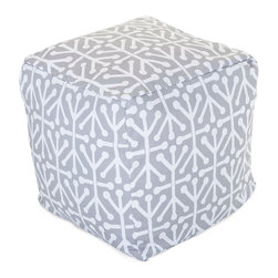 Majestic Home - Outdoor Gray Aruba Small Cube - Add style and color to your living room or outdoor seating arrangement with Majestic Home Goods Small Cube Ottoman. This cube is perfect for use as a footstool, side table or as extra seating for guests. Woven from outdoor treated polyester, these cubes have up to 1000 hours of U.V. protection and are able to withstand all of natures elements. The beanbag inserts are eco-friendly by using up to 50% recycled polystyrene beads, and the removable zippered slipcovers are conveniently machine-washable.