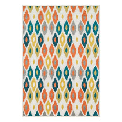 """Loloi Rugs - Loloi Rugs Catalina Collection - Ivory / Multi, 9'-2"""" x 12'-1"""" - Made of very weather-resilient polypropylene, the Catalina Collection features indoor/outdoor rugs with bold patterns and can't-miss, vibrant colors that look amazing in indoor or outdoor spaces. Each design is power loomed in Egypt and tested withstand UV rays and sunshine."""
