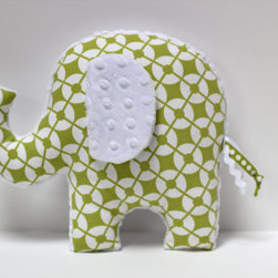 Elephant Nursery Pillow By Lil' Kingdom - I think I have fallen in love with a pillow. I am itching to put this in a nursery. What little one wouldn't love this? There are so many prints to choose from as well.