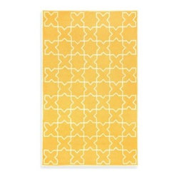 Trans-ocean - Liora Manne Capri Moroccan Tile Indoor/Outdoor Rug in Yellow - The hand-tufted geometric design on this cheery rug adds a Byzantine touch to your decor. What's more, you can bring this warm feel to anywhere in your home or out, such as patio or other outdoor areas.