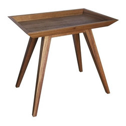 NOIR - NOIR Furniture - Tray side table dark walnut - GTAB388DW - Simple form delivers classic style to the Noir Tray side table. Rich with its organic appeal, the piece's rectangular top accents sleek legs for a modern statement.