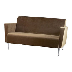 Adesso - Adesso Memphis Contemporary Sofa X-33-5224KW - Foamed spring seat and back with chrome finished legs. Available in olive brown or black polyester velvet.