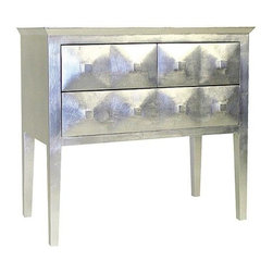 Wayborn - Vanderbilt 3 Drawer Chest in Silver Finish - 3 Drawers. Made from Pinus Sylvestris. Silver leaf finish. 31 in. W x 16 in. D x 29 in. H (38 lbs.)