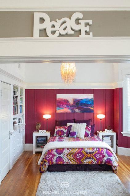 Eclectic Bedroom by Rachel Blindauer Interior Design