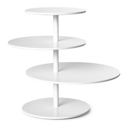 Design House Stockholm Twist Table - I love this helpful side table because each plane can be rotated, allowing one to hold several drinks for nearby chairs without anyone having to reach too far for theirs.