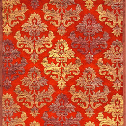 JRCPL - Transitional Floral Pattern Red/ Orange Rug (9' x 12') - Design tells a story of this rug. The rug is crafted in machine-tufted polyester. Fiber is ultra-soft chenille, brings any space to life with its fashion-forward colors. Design suited to many styles and aesthetics, this rug brings together a diverse