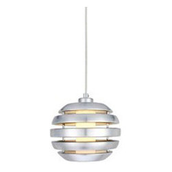 Eglo Lighting - Mercur 88293A - Pendant Lamp | Eglo - Eglo Lighting Mercur�_88293A�_Pendant Lamp features�_brushed aluminum finish. Manufacturer:�_Eglo LightingSize:�_7.1 in. diameter x 59 in. height max field cuttable cord Light Source:�_1 x 40 watt BC - not included Certifications: ETL Location: Dry