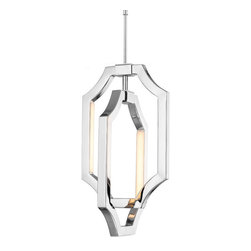 Feiss - Audrie LED Suspension - Audrie LED Suspension is available in a Polished Nickel or High Gloss Gray finish.  Available as a small, medium or large.  Small: Four 3 watt, 120 volt, 250 Lumen, 2700K, 80 CRI minimum LED. 7.125 inch width x 19.125 inch height x 160 inch overall adjustable length.  Medium: Six 3.5 watt, 120 volt, 350 Lumen, 2700K, 80 CRI minimum LED. 10.125 inch width x 25.875 inch height x 160 inch overall adjustable length.  Large: Six 8 watt, 120 volt, 650 Lumen, 2700K 80 CRI minimum LED. 17 inch width x 35.75 inch height x 160 inch overall adjustable length.  Lamps are included.
