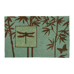 Homefires - Zen Bamboo Garden Rug - Soothing browns and greens depicting an evocat