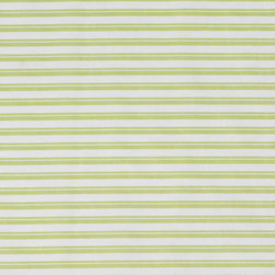 Oilo - Crib Sheet, Spring Green - Stripes are a classic design for a baby boy or girl's bed. This fitted crib sheet would complement any number of nursery designs. And you can't go wrong with a 300 thread count cotton sheet for your sweet little one.