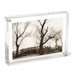 "Canetti - Original Magnet Frame, Clear, 8""x10"" - Give your beloved photos the display they deserve with this magnet frame. Two panels of thick, clear acrylic hold your photo for a clean, unencumbered presentation that keeps your image the center of focus."