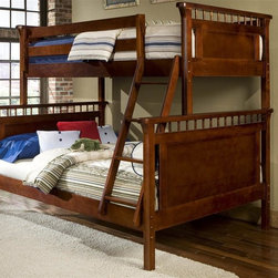 Bolton Furniture - Bennington Twin over Full Bunk Bed (Maple Rose) - Finish: Maple Rose. Includes 2 footboards, 2 headboards, 2 birch side rail set and birch ladder/safety rail set. Twin bed on top. Full size bed on bottom. Cherry finish. Assembly required. 1-Year warranty. 58 in. W x 79 in. D x 68 in. H. Bunk Bed Warning. Please read before purchase.. NOTE: ivgStores DOES NOT offer assembly on loft beds or bunk beds.