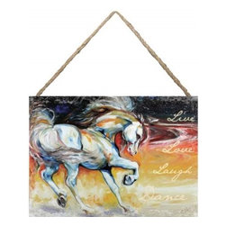 """Westland - """"Live Love Laugh Dance"""" Hanging Wall Art Canvas with A Horse - This gorgeous """"Live Love Laugh Dance"""" Hanging Wall Art Canvas with A Horse has the finest details and highest quality you will find anywhere! """"Live Love Laugh Dance"""" Hanging Wall Art Canvas with A Horse is truly remarkable."""