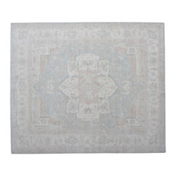 Stone Wash Heriz Peshawar 8'x10' 100% Wool Hand Knotted Oriental Rug SH15266 - Hand Knotted Oushak & Peshawar Rugs are highly demanded by interior designers.  They are known for their soft & subtle appearance.  They are composed of 100% hand spun wool as well as natural & vegetable dyes. The whole color concept of these rugs is earth tones.