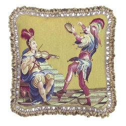 "EuroLux Home - New 20""x20"" Throw Pillow Musical Instruments - Product Details"