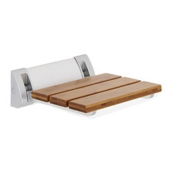 Hudson Reed - Bamboo Folding Shower Seat Wide Base - Enjoy a safe and relaxing shower with this high quality, modern folding shower seat, which features a Bamboo finish to complement any style of bathroom. Featuring a convenient folding design this shower seat will make a very practical addition to your bathroom and can be easily folded away when not in use.