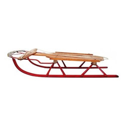 Speed King Child's Sled c. 1950's - This is a wonderful 'Speed King' child's sled from the 1950's. Still has the original rope, paint and turning bar. 32 inch length.	 - See more at: http://www.charlieford.com/store/public/product/1603-speed-king-childs-sled-c1950s#sthash.FJjdys29.dpuf