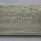 Tray - Simple Tray. Textured. Nickel Finish. Handmade. For wholesale trade inquiry,please e-mail us info@sfhindia.com