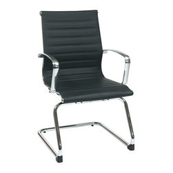 IFN Modern - Eames Reception Chair with Aluminum Polished Frame - The Angus reception chair has a beautiful aluminum polished frame that gives the chair a nice shiny finish and the chair provides maximum comfort for any user.