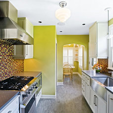 Contemporary Kitchen by Mercury Mosaics and Tile