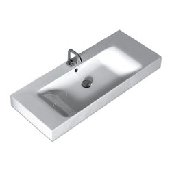 WS Bath Collections - WS Bath Collections Cento Wall Hung or Counter Top Ceramic Sink - Features: