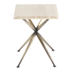 Control Brand - The Asteriisk Table - The Asteriisk Table is made from gilded steel and a travertine top.