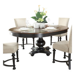 Riverside Furniture - Riverside Furniture Williamsport Round/Oval Dining Table in Nutmeg/Kettle Black - Riverside Furniture - Dining Tables - 9265192652KIT - Riverside's products are designed and constructed for use in the home and are generally not intended for rental, commercial, institutional or other applications not considered to be household usage.