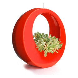 """Potted - The Circle Pot by Potted, Orange - The Circle Pot is one of our most popular designs. You can see it hanging on stylish front porches across LA and beyond. Even on the hit CBS show """"Two Broke Girls."""""""