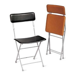 Lina Leather Folding Chair