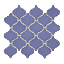 Somertile - SomerTile 9.75x10.75-inch Victorian Morocco Glossy Blue Porcelain MosaicTile (Pa - Unique lantern-shaped tiles provide a touch of elegant, old-world style to any indoor or outdoor wall or floor. Impervious to water and designed for medium-duty residential floors, these porcelain tiles are ideal for kitchens, bathrooms, and pool sides.