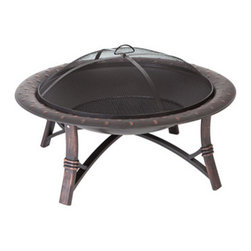 "Fire Sense 35"" Roman Fire Pit - Thanks to its light frame, the Fire Sense 35"" Roman Fire Pit can easily be moved to keep up with the life of the party during the busy outdoor entertaining months. -Mantels Direct"