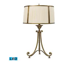 Dimond Lighting - Dimond Lighting Williamsport 11052/1-LED Table Lamp in Vintage Brass Patina - 11052/1-LED Table Lamp in Vintage Brass Patina belongs to Williamsport Collection by Dimond Lighting Table Lamp (1)