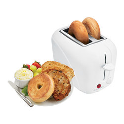 Hamilton Beach - Two Slice Toaster White - This Proctor Silex 2-Slice Toaster has a cool-touch exterior so it won't burn hands if its sides are touched accidentally. It features toast boost, a slide-out crumb tray, automatic shutoff and shade selector. A Consumer Reports Best Buy.