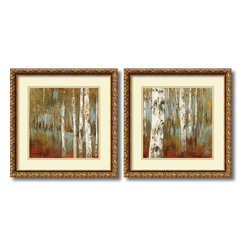 Amanti Art - Allison Pearce 'Along the Path- set of 2' Framed Art Print 18 x 18-inch Each - Blurring the line between contemporary landscape and abstract art, with the Along the Path framed art set, Allison Pearce creates beautiful images to honor nature.