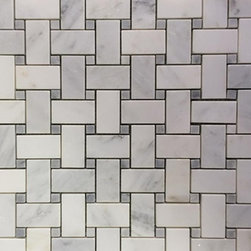 Trenza Weave Asian Statuary with Silver Dot Marble Tile - Trenza Asian Statuary With Silver Dot Marble Tile  This marble mosaic will provide endless design possibilities from contemporary to classic. It creates a great focal point to suit a variety of settings. The mesh backing not only simplifies installation, it also allows the tiles to be separated which adds to their design flexibility. The natural material will have a color variation.