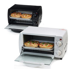 None - Classic Toaster Oven/ Broiler with Timer - This classic toaster oven and broiler features a 4-quart capacity. This oven lets you bake,broil,and toast your meals.