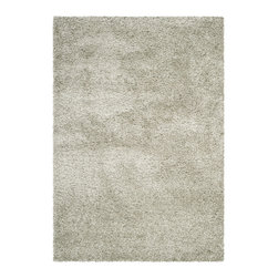 Safavieh - Tyler Area Rug, Sage / Sage 3' X 5' - Safavieh's Tyler Shag  is inspired by timeless shag designs crafted with the softest polypropylene available.)