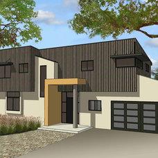 Contemporary Exterior by Louie Leu Architect, Inc.