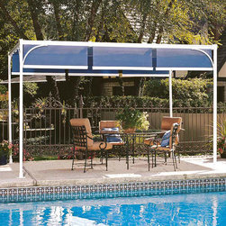 Capri - Assembly is quick and easy  the base fittings attach to your deck, patio or railing. The overhead tracks mount to the house or overhang. Aluminum tracks in the Capri model can span up to 21 feet from the house. Just add