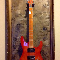 Guitar Display Cases / Shadow Boxes - This unique and original piece was handcrafted on solid wood