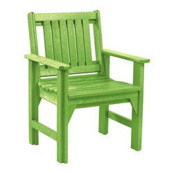 C.R. Plastic Products - C.R. Plastics Dining Arm Chair In Kiwi - C.R. Plastics Dining Arm Chair In Kiwi