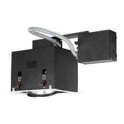 Jesco Lighting - Jesco MGRP38-1WB 1-Light Double Gimbal Recessed Fixture Line Voltage - Jesco MGRP38-1WB 1-Light Double Gimbal Recessed Fixture Line Voltage