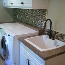 Traditional Laundry Room by Schock Construction Inc
