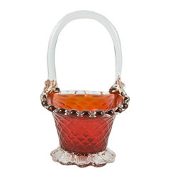 Lavish Shoestring - Consigned Cranberry Glass Sugar Bowl, Vintage Venetian, 1950s - This is a vintage one-of-a-kind item.
